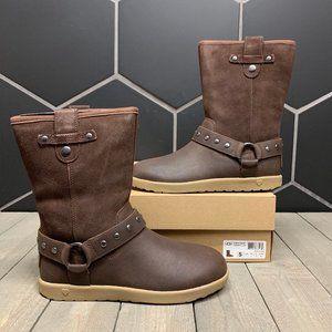 New W/ Box! Kids Ugg Moto Short Brown Boots